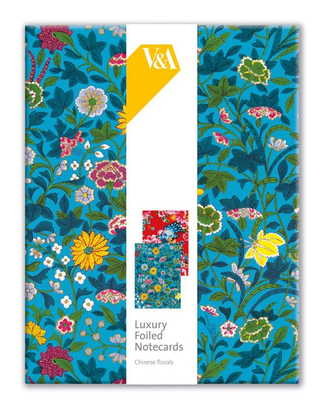 Museums  Galleries - Luxury Foiled Notecards - VA Chinese Florals