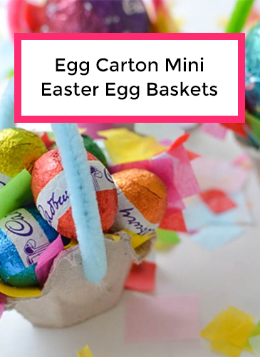 Recycled Egg Carton Mini Easter Egg Baskets