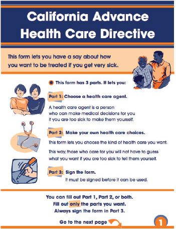 6 Health Literacy in Palliative Care Programs Health Literacy and - sample advance directive form