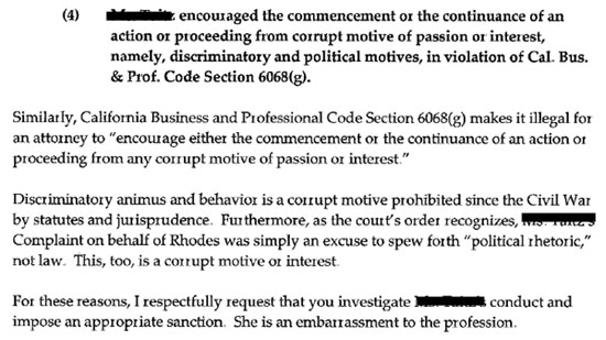 Napa Court State Bar of California - Attorney Complaint Letter Examples
