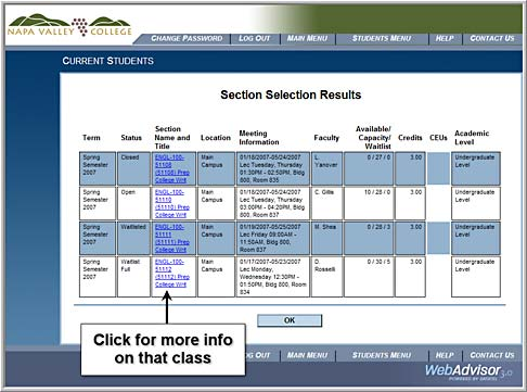 Search for Classes