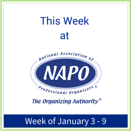 This Week at NAPO week of January 3 - 9