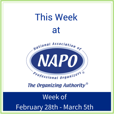 This Week at NAPO week of February 28 - March 5