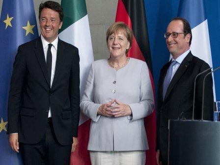 Domenica 21 Renzi, Merkel e Hollande a Napoli città blindata