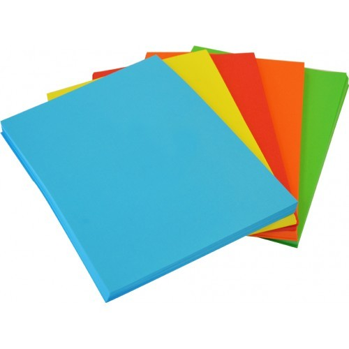 Copy Paper Assorted Bright Colours 500 Sheet Ream - paper