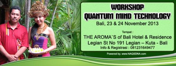 Quantum Mind Technology Workshop di Bali