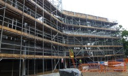 Scaffolding at Thetford Academy