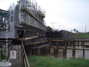 Scaffolding solution for Sutton Swing Bridge