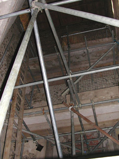 Scaffolding Interiors of East Ruston Church