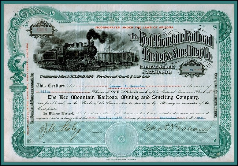 This Daylight Prism Company sample stock certificate (50 shares - example of share certificate