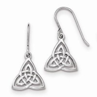 Celtic Knot Dangle Sterling Silver Earrings