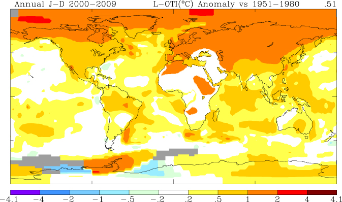 NASA - 2009 Second Warmest Year on Record; End of Warmest Decade