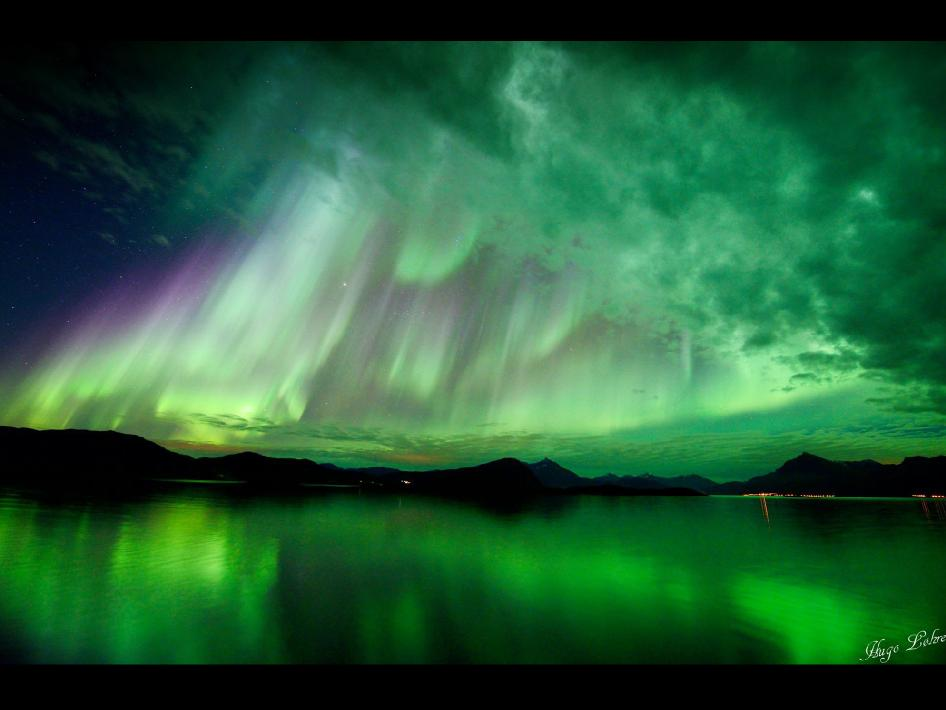 Northern Lights 3d Wallpaper Nasa A Norway Aurora From Oct 10 2012