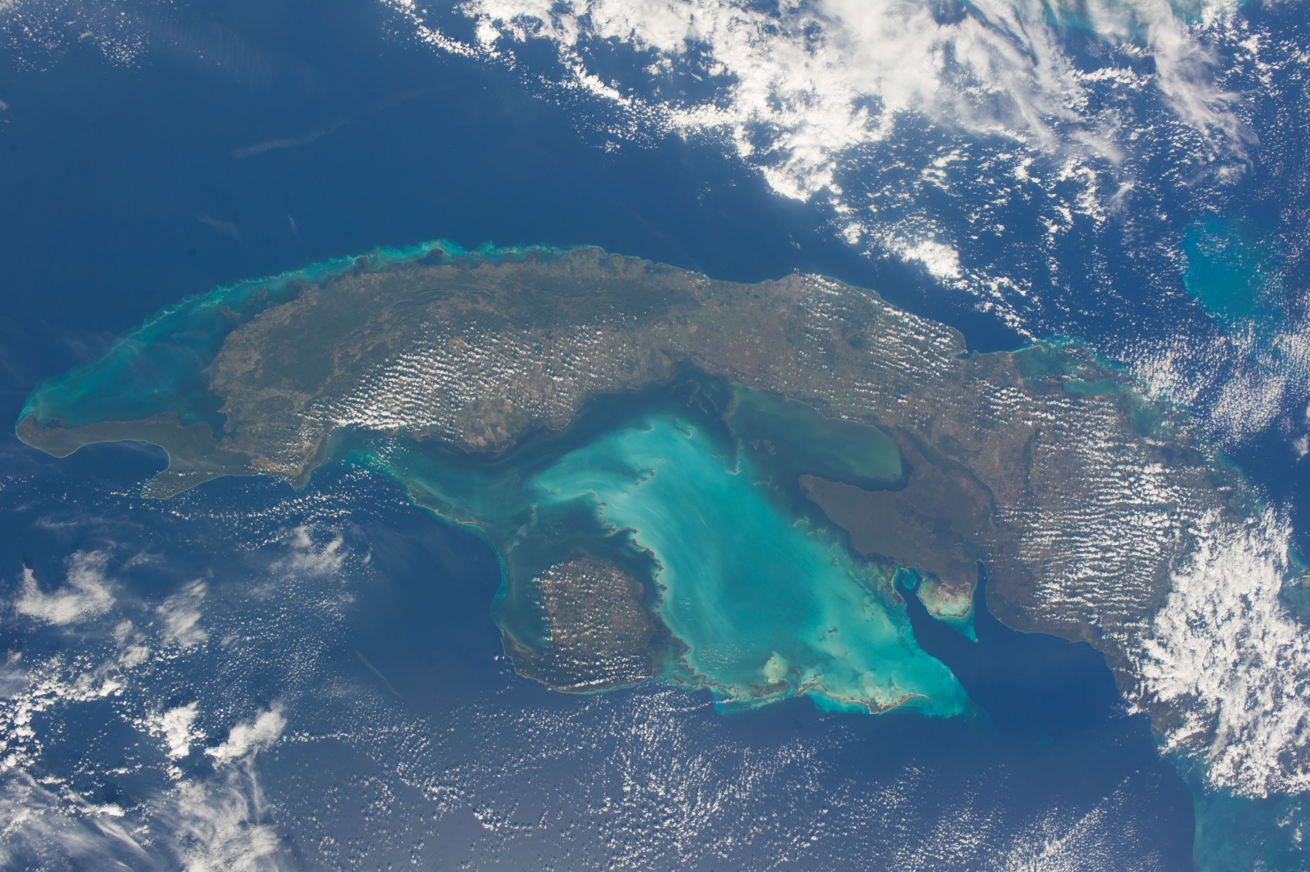 Coral Reef Wallpaper Hd Space Station View Of Cuba Nasa