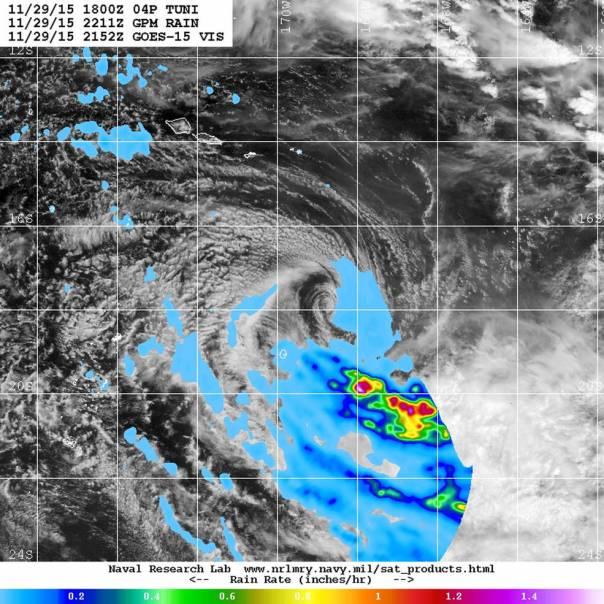 GOES-West image of Tuni
