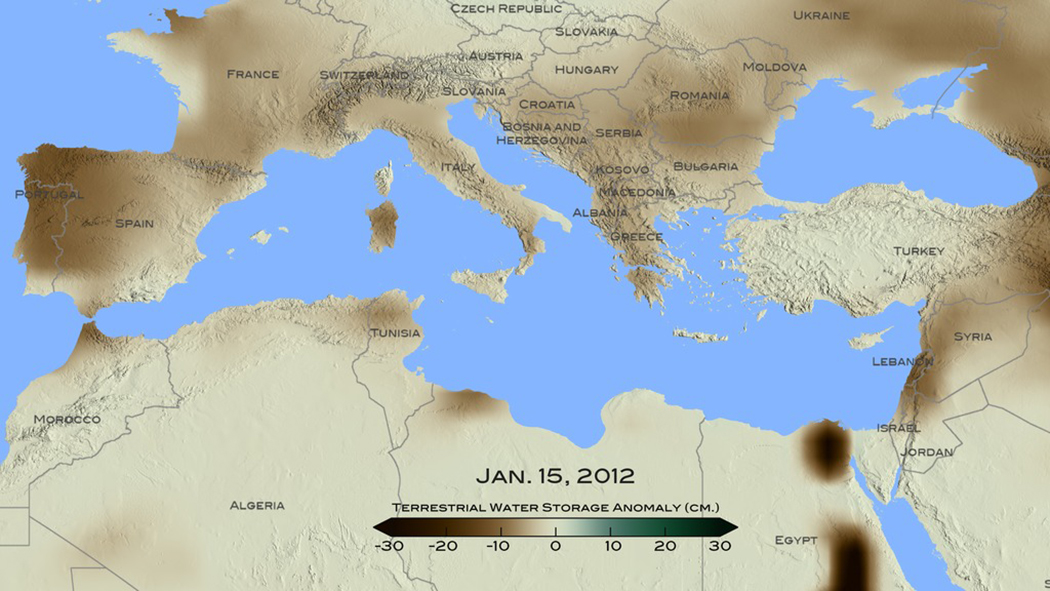 Drought in Eastern Mediterranean Worst in 900 Years NASA - best of world map hungary syria