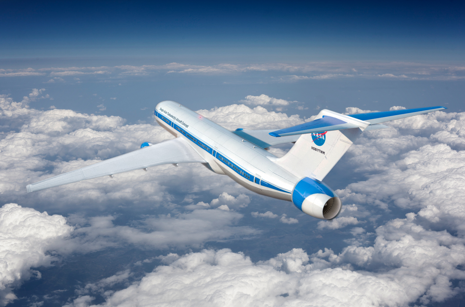 Hybrid electric concept plane
