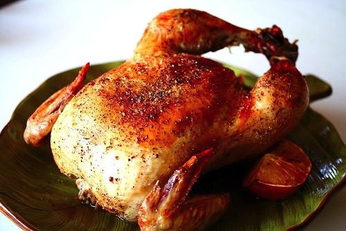 Курица с солью