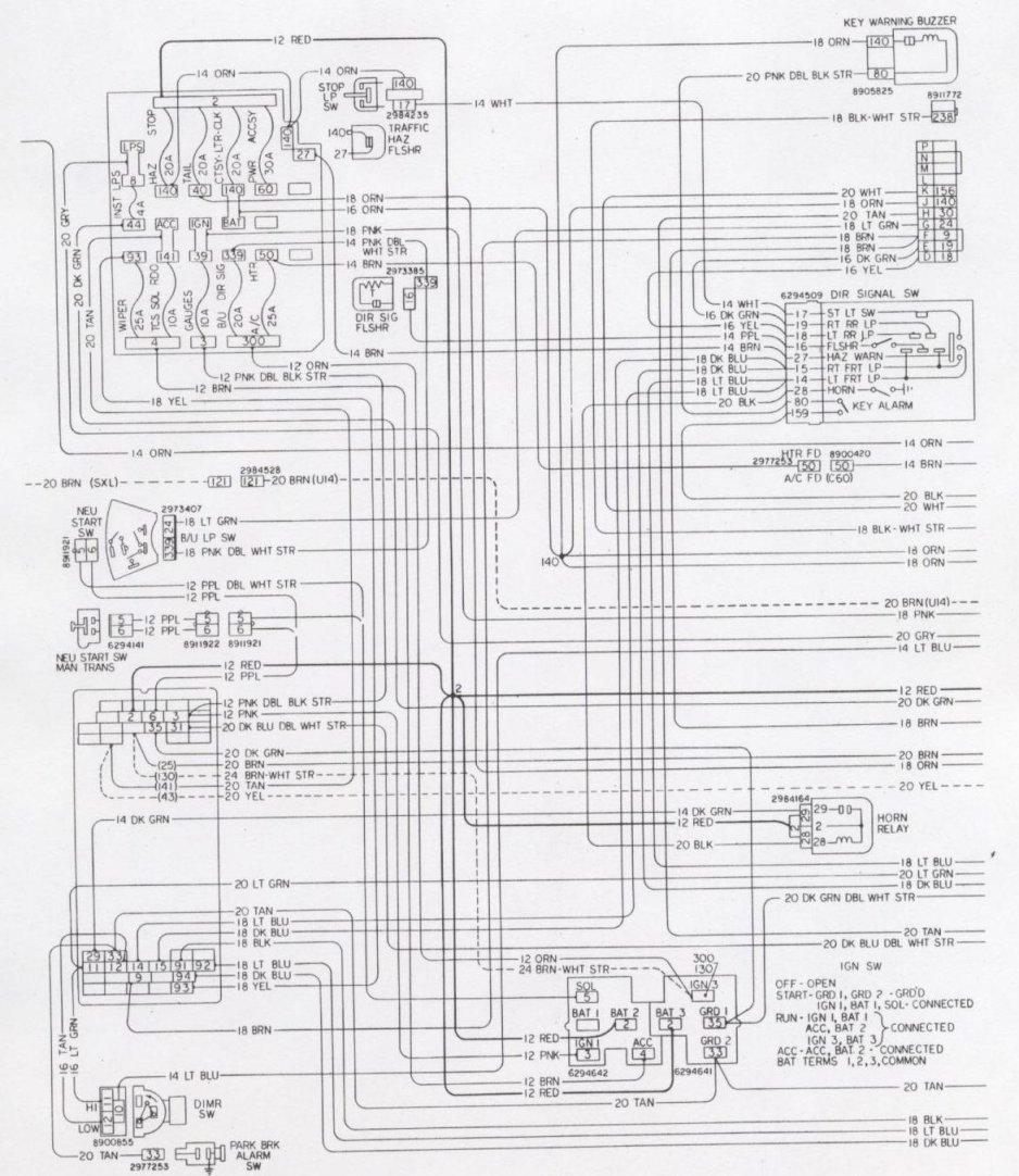 1994 pontiac 5 7l diagram wiring schematic