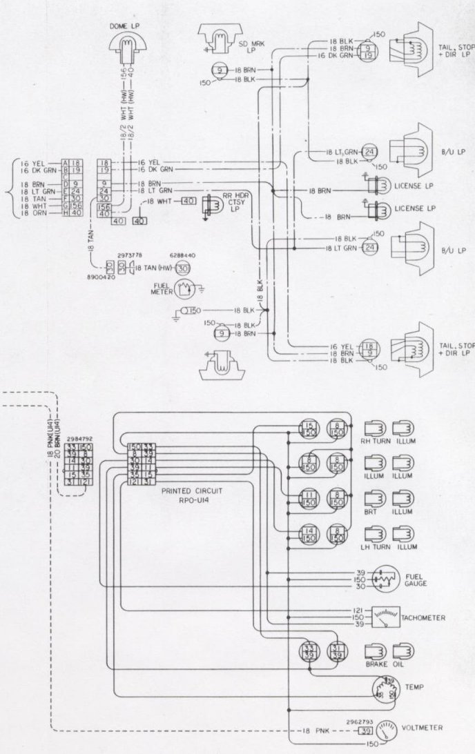 85 camaro dash wiring diagram schematic
