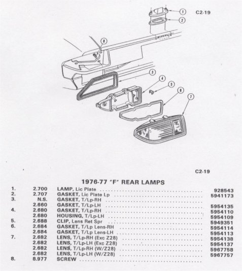 96 chevy tail light wiring harness