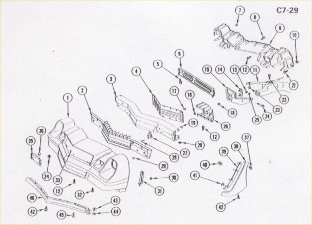 rear lighting 12h bulbs chas body wiring 1973 wiring diagrams