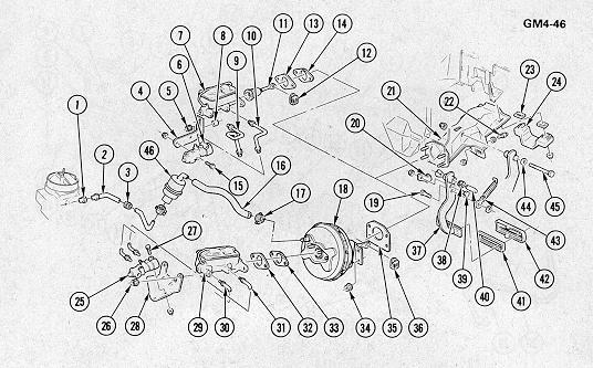 camaro brake line diagram