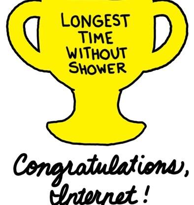 you got your trophy no go wash up April Showers Challenge