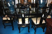 Chinese Dining Set with Six Chairs
