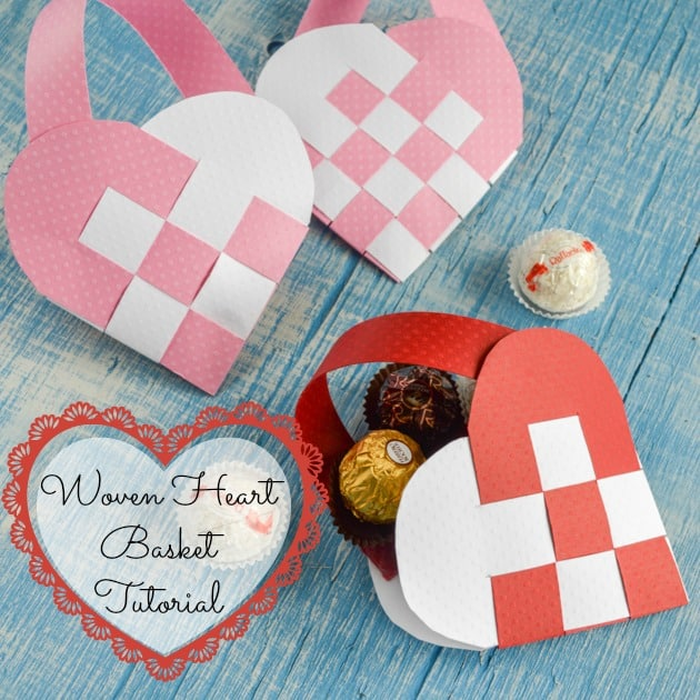 How To Make A Woven Heart Basket : Woven valentine s heart basket tutorial