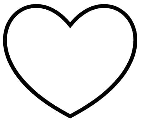 Large Heart Template Printable - Free Wallpaper, Images and Pictures ...