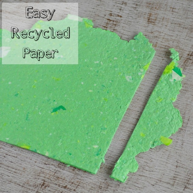 How to make your own recycled paper without a mold or deckle for Simple recycled materials