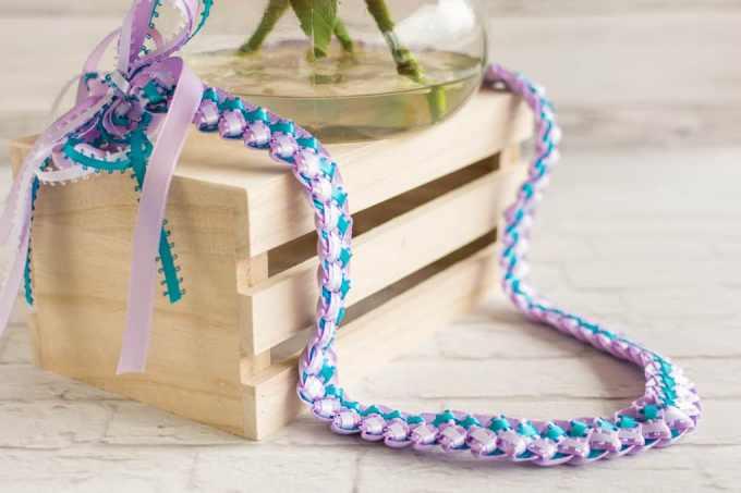 Tricolor Hawaiian Ribbon Lei Craftbnb