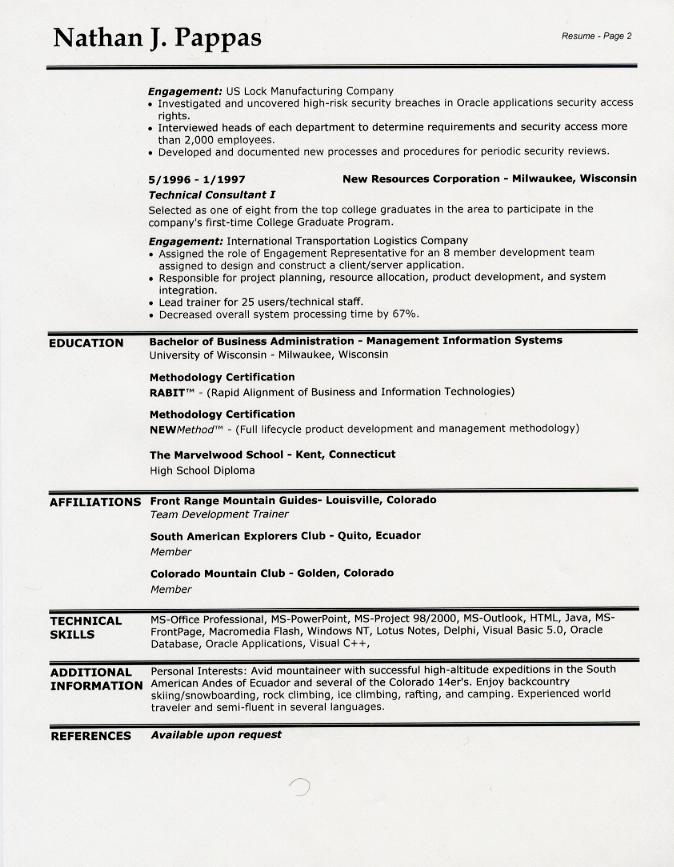 Example Resume Headers Resume Heading Examples