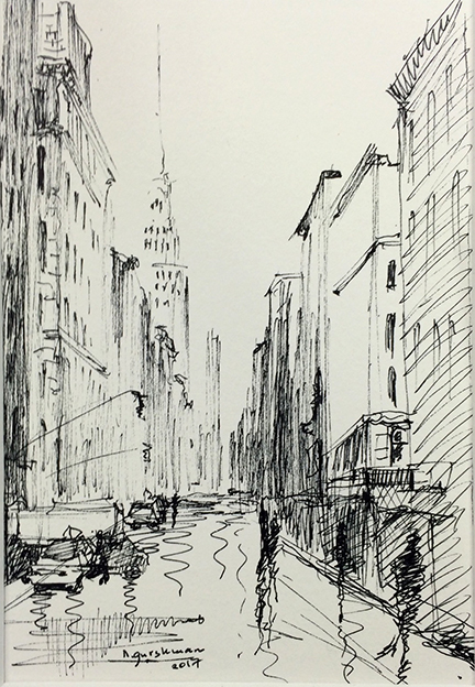 Sketches of New York, Boston, Paris and other cities around the