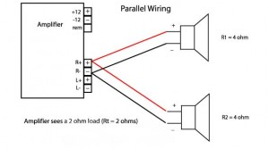 wiring series parallel additionally 2 ohm subwoofer wiring diagram on