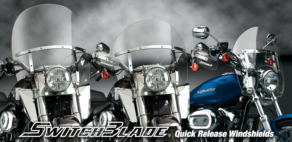 SwitchBlade® Quick-Release Windshields for Harley-Davidson® and Indian®