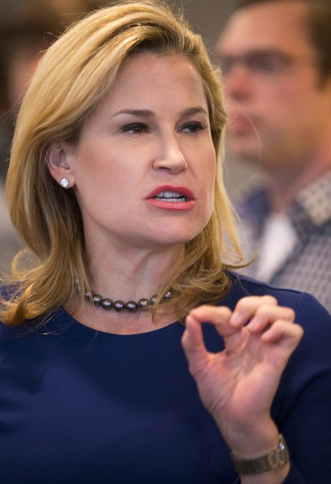 Heidi Cruz Campaigns For Her Husband In Wisconsin