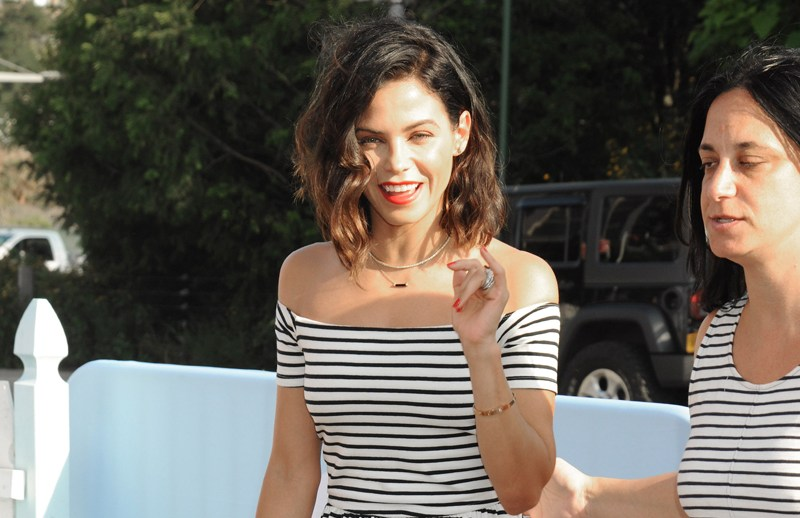 VIP guests arrive to celebrate TARGET's Cat & Jack Brand Launch, held at Pier 6 in Brooklyn Bridge Park in Brooklyn, New York City, New York.  Pictured: Jenna Dewan Tatum Ref: SPL1322878  210716   Picture by: Johns PKI/Splash News  Splash News and Pictures Los Angeles:	310-821-2666 New York:	212-619-2666 London:	870-934-2666 photodesk@splashnews.com