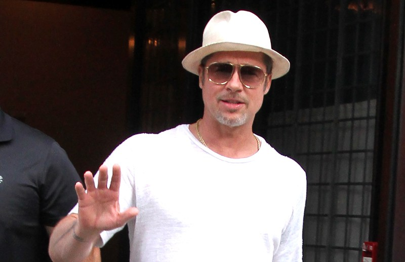 Brad Pitt spotted out and about in New York City.  Pictured: Brad Pitt Ref: SPL1321620  210716   Picture by: Said Elatab / Splash News  Splash News and Pictures Los Angeles:	310-821-2666 New York:	212-619-2666 London:	870-934-2666 photodesk@splashnews.com