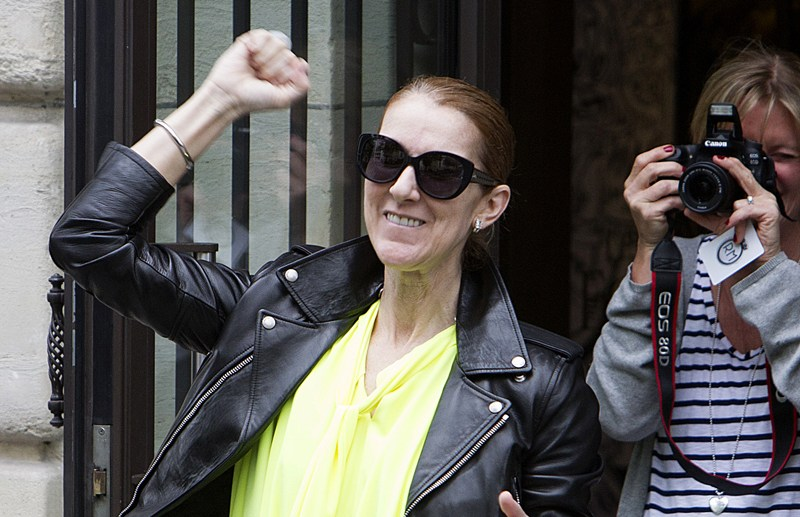 Celine Dion goes out of the Royal Monceau hotel in Paris.  Pictured: Celine Dion Ref: SPL1310404  280617   Picture by: KCS Presse / Splash News  Splash News and Pictures Los Angeles:310-821-2666 New York:212-619-2666 London:870-934-2666 photodesk@splashnews.com