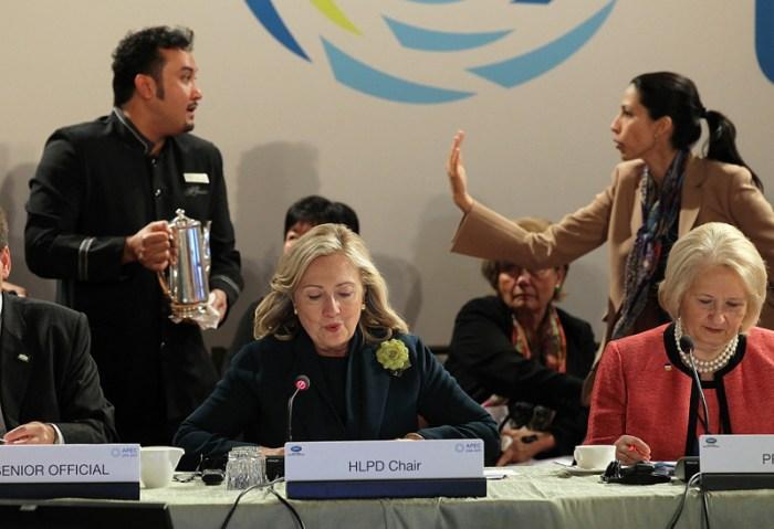 Hillary Clinton Addresses APEC Women And The Economy Summit