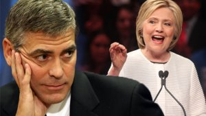 hillary clinton scandal fundraising george clooney