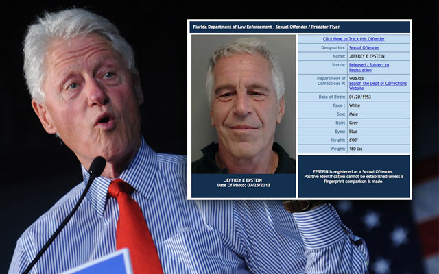bill clinton sex scandal pedophile jeffrey epstein