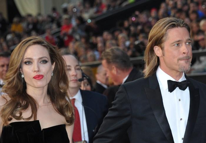 Actress Angelina Jolie and actor Brad Pi