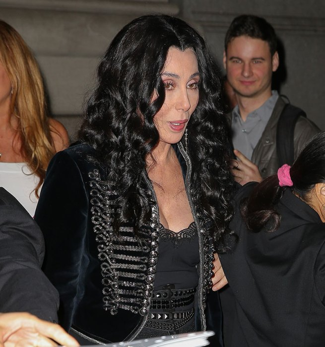 Cher seen leaving her hotel in New York City