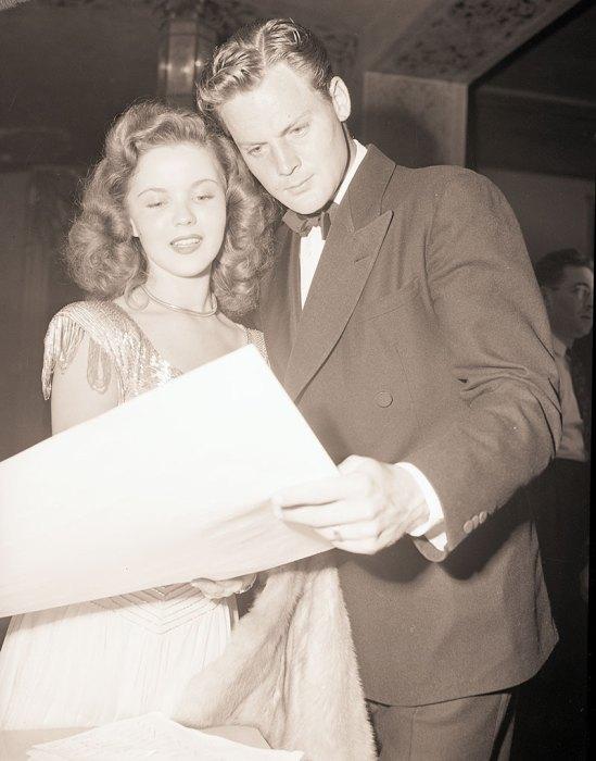 Shirley Temple with Husband John Agar