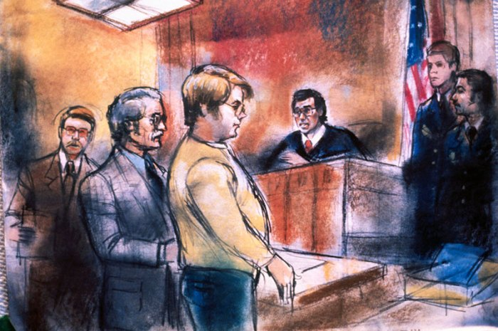 Mark David Chapman in Court