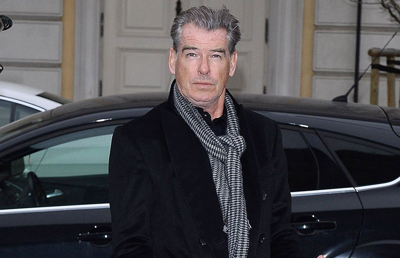 Pierce Brosnan with his wife goes to hotel in Wroclaw, Poland  Pictured: Pierce Brosnan Ref: SPL1407815  091216   Picture by: Splash News  Splash News and Pictures Los Angeles:310-821-2666 New York:212-619-2666 London:870-934-2666 photodesk@splashnews.com