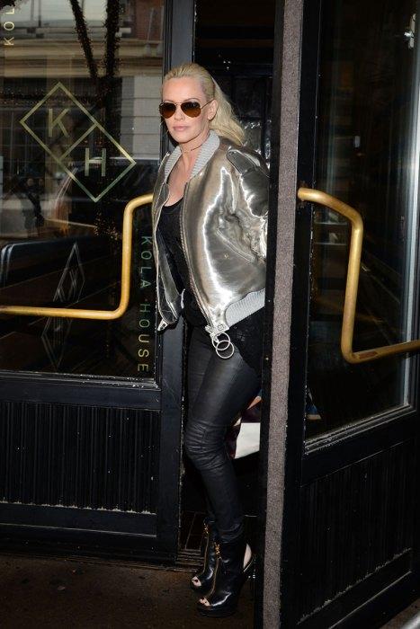 Jenny McCarthy leaving Kola House restaurant in NYC